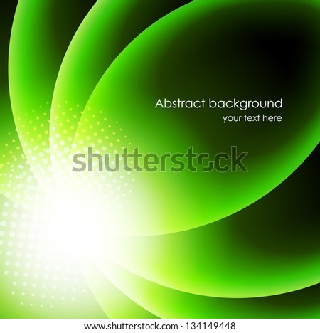 Abstract background in green color - stock vector