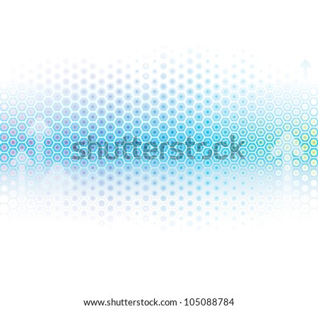 Abstract background in light blue. - stock vector