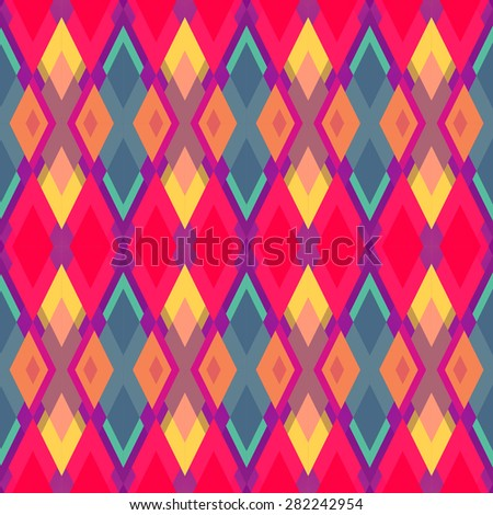 Abstract background in pastel colors. Geometric background. Pattern of geometric shapes. Copy that square to the side, the resulting image can be repeated, or tiled, without visible seams. - stock vector