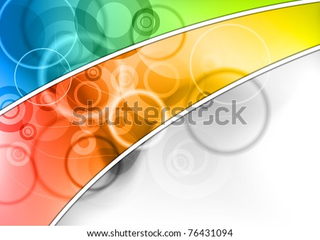 abstract background in rainbow color - stock vector