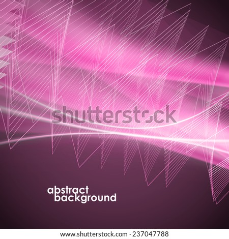 Abstract background in the form of lines and zigzag with a glow. Vector illustration - stock vector