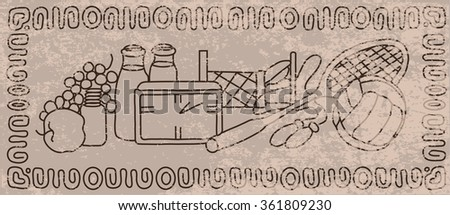 Abstract background in vintage style. A healthy lifestyle. Beauty and health. - stock vector