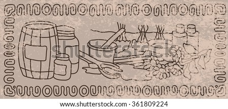 Abstract background in vintage style. Care for body and face. Beauty and health. - stock vector