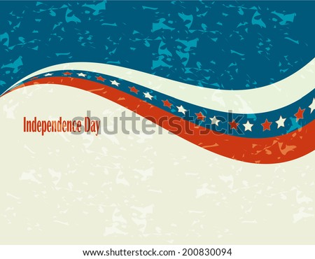 Abstract background, Independence Day - stock vector