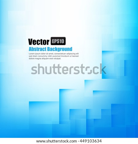 Abstract background light blue with basic geometry element vector illustration eps10 - stock vector