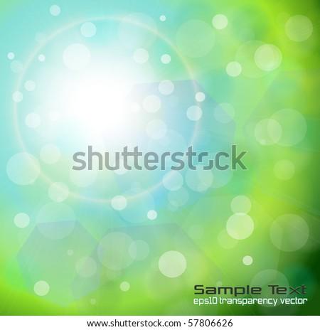 Abstract background light green. Vector illustration. - stock vector