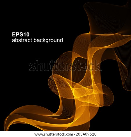 Abstract background light lines, futuristic wave. Vector illustration. - stock vector