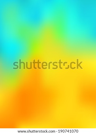 abstract background looking like the thermography image with blue, green, yellow and red colors - stock vector
