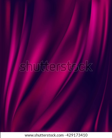 abstract background luxury purple cloth or liquid wave or wavy folds of grunge silk texture satin velvet material or luxurious background or elegant wallpaper  - stock vector