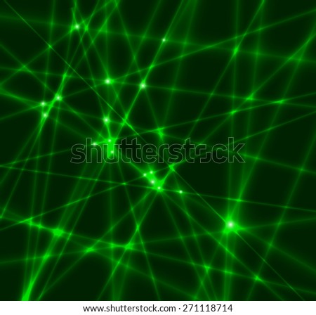 Abstract background made from green laser beams. Vector illustration. - stock vector