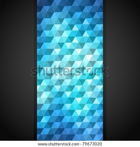 Abstract background made of mosaic pattern - stock vector