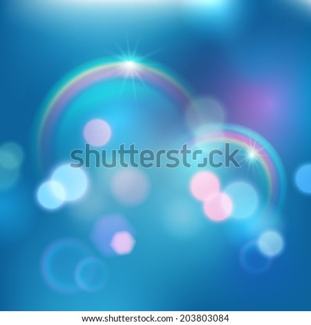 Abstract background, magic lights. Vector illustration.  - stock vector