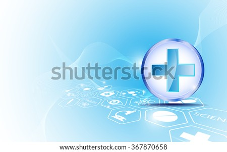 abstract background medical icon and logo innovation concept design