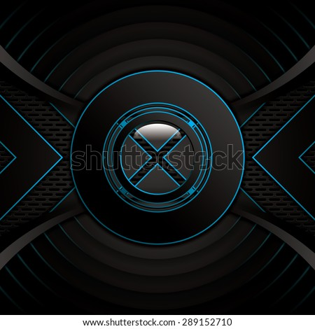 Abstract background, metallic blue brochure, vector - stock vector