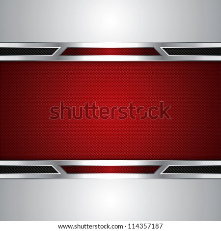 Abstract background, metallic red brochure, vector
