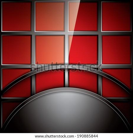 Abstract background, metallic red brochure, vector - stock vector