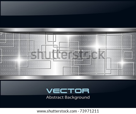 Abstract background metallic technology, vector. - stock vector