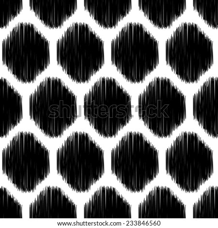 Abstract background. Modern seamless pattern in black and white colors for textile and wallpaper. Vector illustration. - stock vector