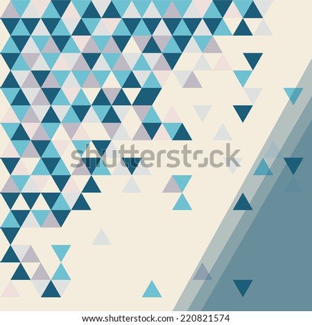 abstract background mosaic with space for text vector