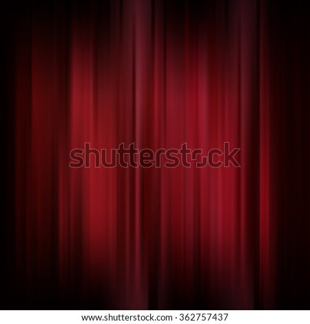 Abstract background. Motion dark red vertical lines. Vector classic backdrop. Red curtains on theater or cinema stage