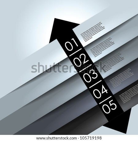 abstract background, number line, can be used for website, info-graphics, number banner - stock vector