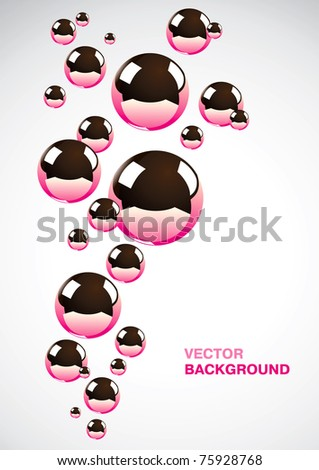 Abstract background of a set of metal balls - stock vector
