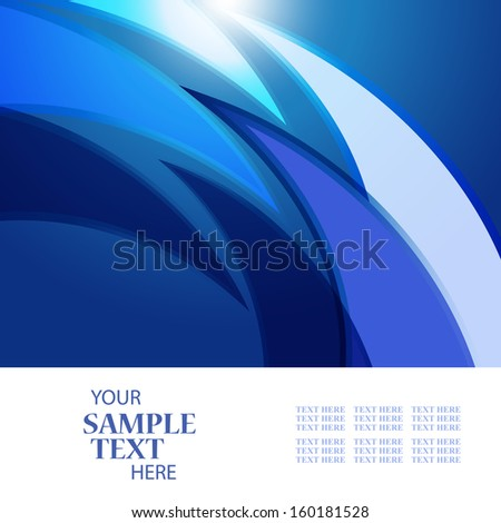 Abstract background of a wave a place for the text - stock vector