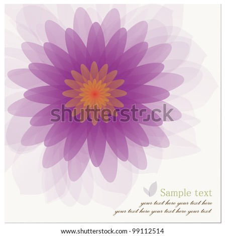 Abstract background of Beautiful Lotus Flower. Vector illustration. - stock vector