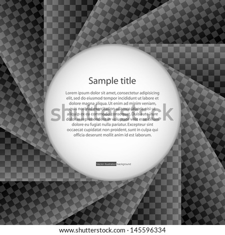 abstract background of black kevlar diaphragm.with space in the middle for sample text. vector. - stock vector