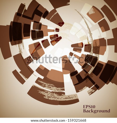 Abstract background of brown color - stock vector