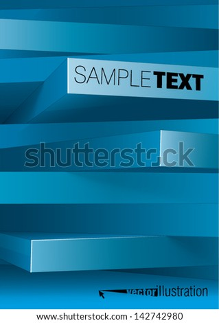 Abstract background of 3d rectangles, you can change the color keeping form. - stock vector