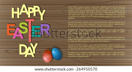 Abstract background of Easter Day. Illustration, EPS 10 - stock vector