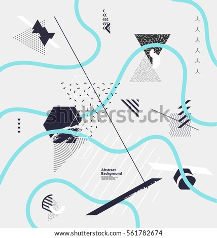 Abstract background of geometric elements