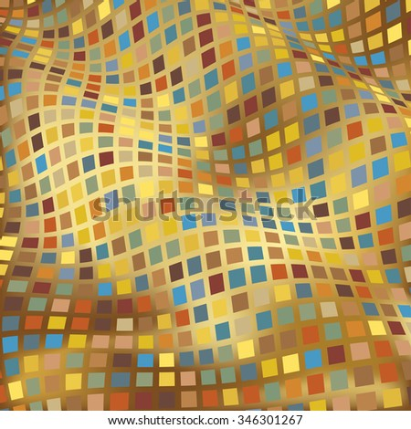 Abstract background of geometric shapes. Geometric mosaic of squares