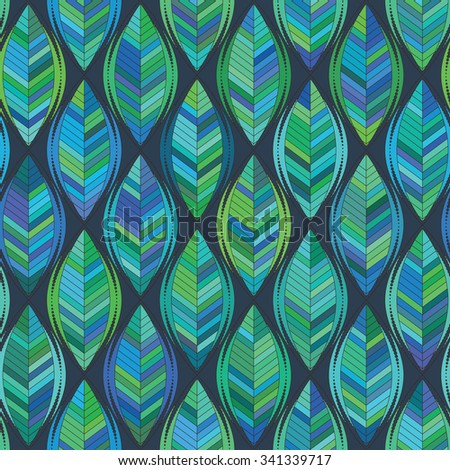 Abstract background of green leaf. Vector pattern