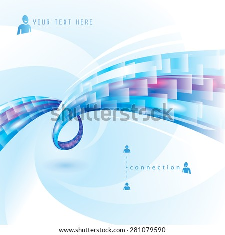 Abstract background of internet connections.  - stock vector