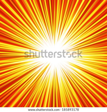 Abstract background of  red star burst, vector background - stock vector