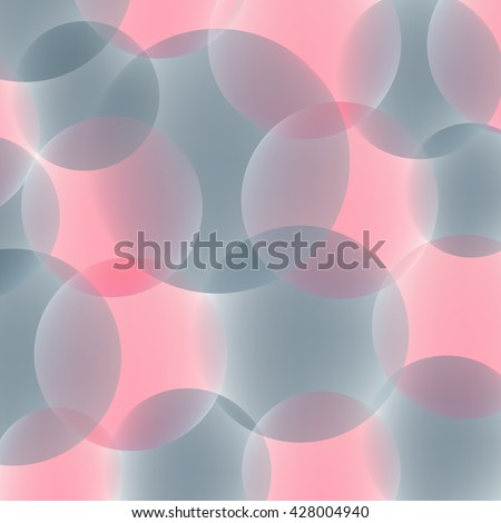 Abstract background of the balls of pink and gray. Translucent orbs. Reflections of light on the ball. Gentle colors. - stock vector