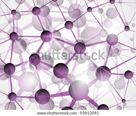 Abstract background of the molecular structure. Eps 10 - stock vector