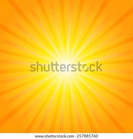 Abstract background of the shining sun-rays. Sun. Vector - stock vector