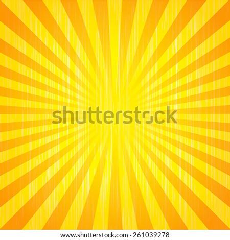 Abstract background of the shining sun-rays. Sun. Vector illustration - stock vector