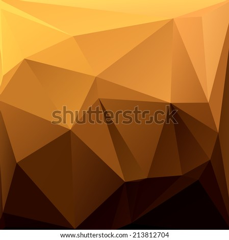 Abstract background of triangular polygons. - stock vector