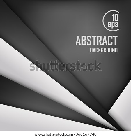 Abstract background of white and black origami paper. Vector illustration. Mesh. EPS 10
