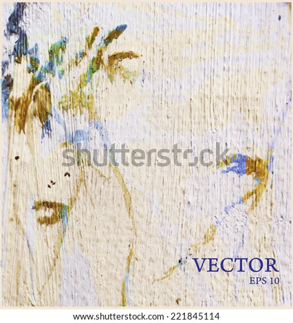 Abstract background. Oil paints on canvas. - stock vector