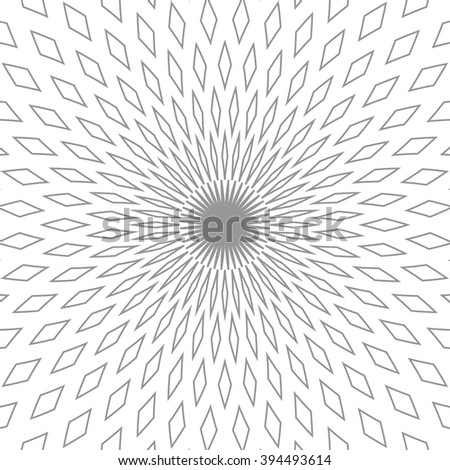 Abstract background. Optical illusion. Gray and white. Vector illustration EPS 10 - stock vector