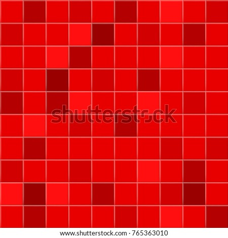 Abstract background or seamless pattern of tiles in red colors