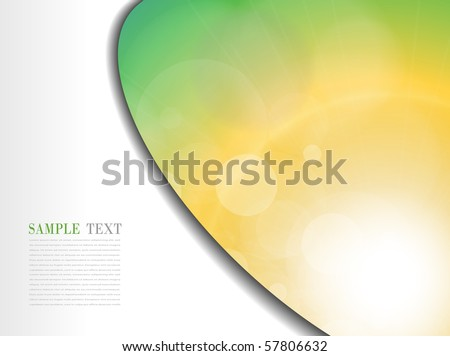 Abstract background orange green sunny. Vector illustration. - stock vector