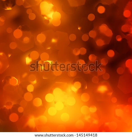 Abstract background, orange magic lights, bokeh. EPS 10 vector file included - stock vector