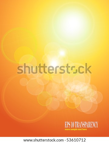 abstract background orange sepia lights. eps10 vector - stock vector
