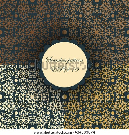 abstract background. ornamental. yellow siamless pattern